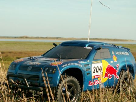 Dakar in St-Ger./Ay (94.VW Touareg in Sand-Grass)