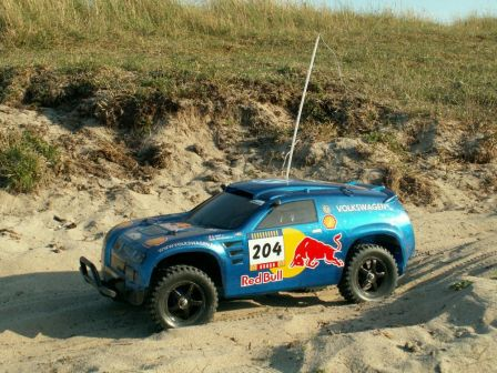 Dakar in St-Ger./Ay (1.VW Touareg in Sand)